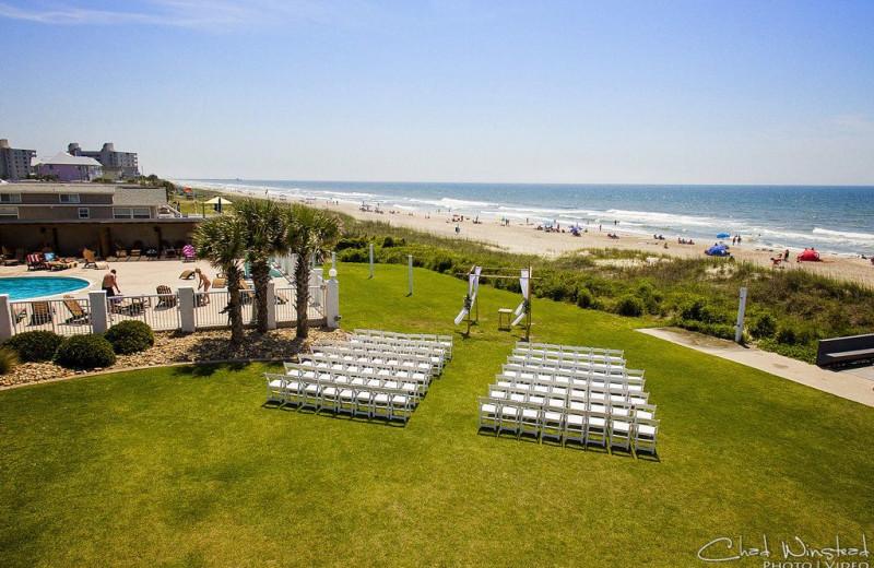 Wedding ceremony at Islander Hotel & Resort.