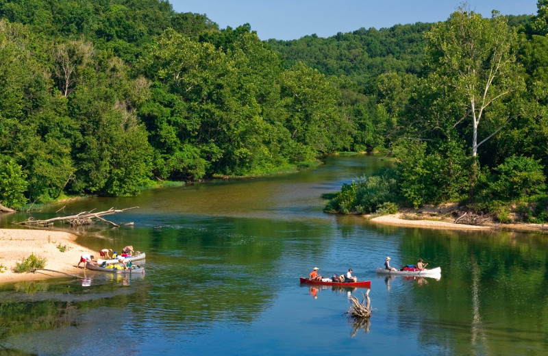 Canoeing at Eminence Canoes, Cottages & Camp.
