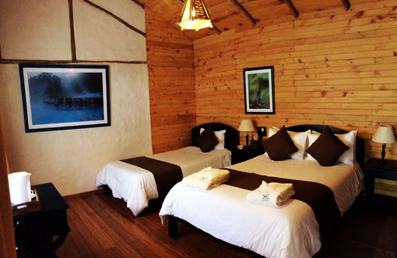 Guest room at Termas de Papallacta.