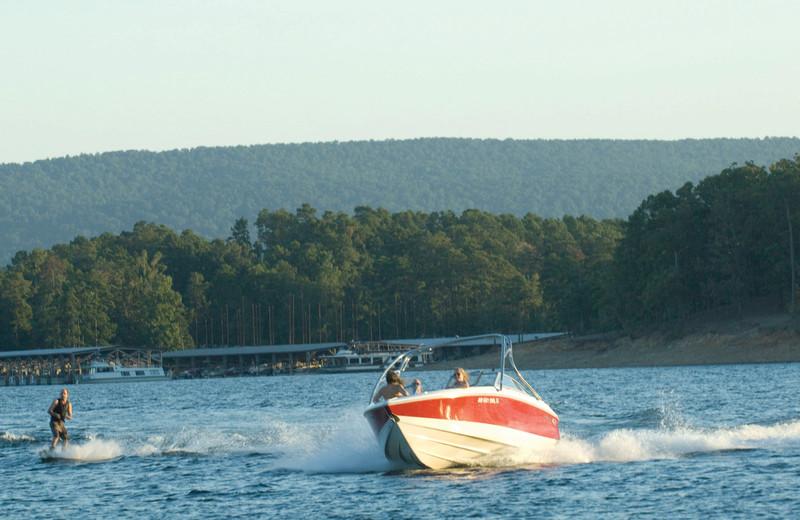 Water activities at Mountain Harbor Resort.