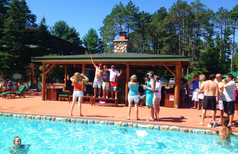 Poolside at Chippewa Retreat Resort.