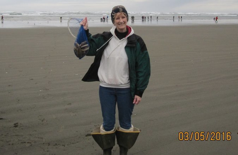 Clamming at Oceanfront Getaways.  Got my limit!