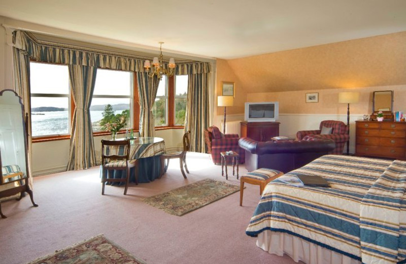Guest suite at Loch Melfort Hotel.