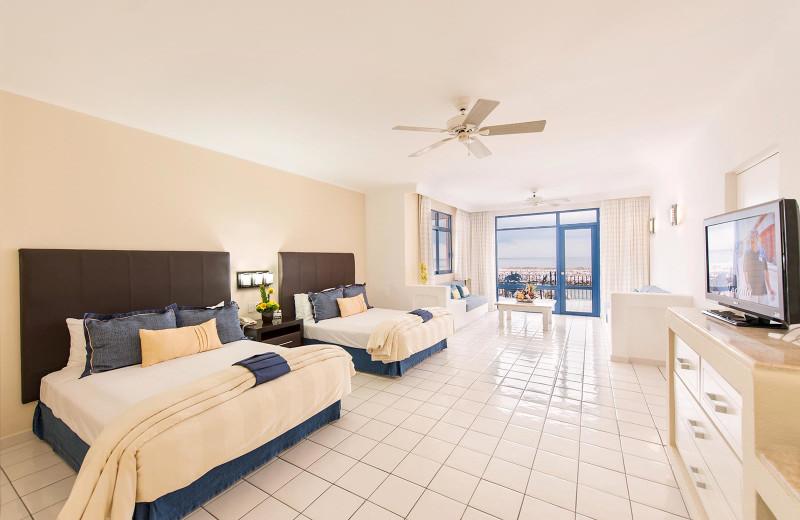 Guest room at  El Cid Marina Beach Hotel and Yacht Club.