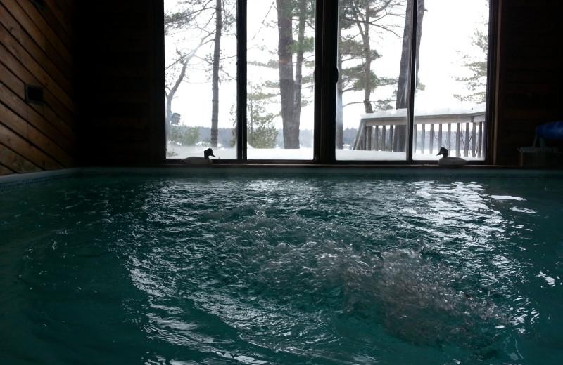 Private indoor pool at Westwind Inn.
