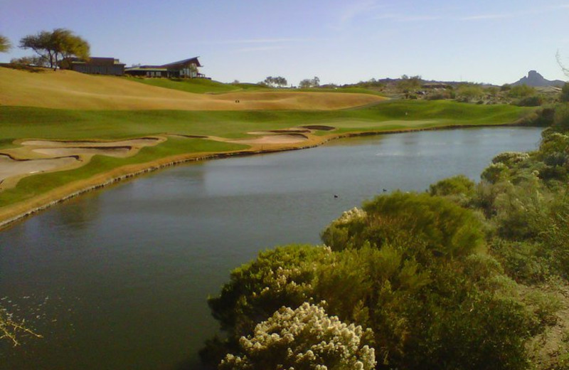 View of golf course at Inn at Eagle Mountain.