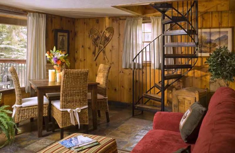 Cabin living room at O-Bar-O Cabins.