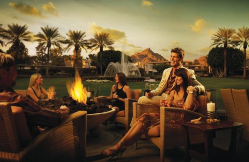 Couples by Fire at Arizona Biltmore Resort