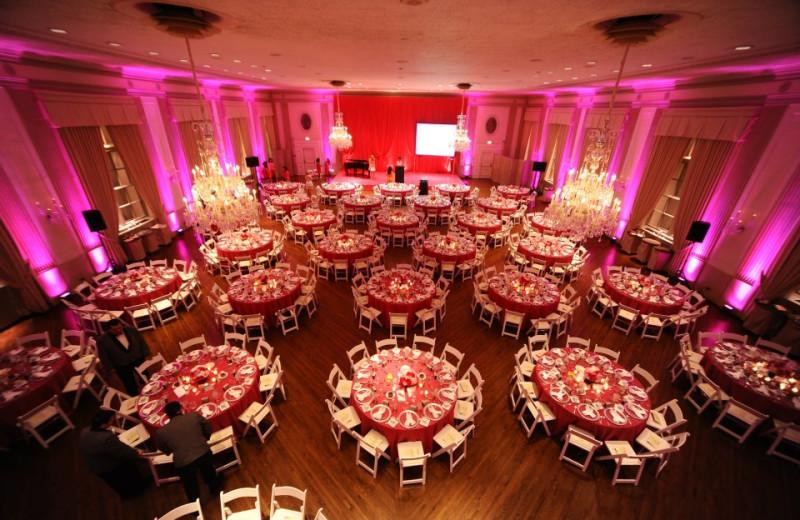 Ballroom at The Standard Club.