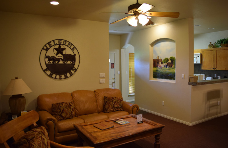 Guest living room at Flying L Hill Country Resort & Conference Center.