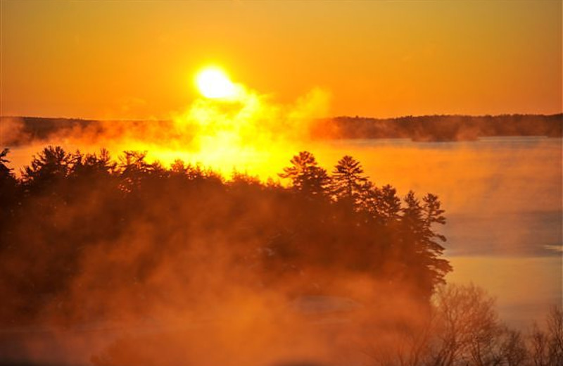 Sunrise at JW Marriott The Rosseau Muskoka Resort & Spa.