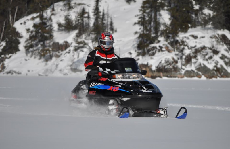 Snowmobiling at Gogama Lodge