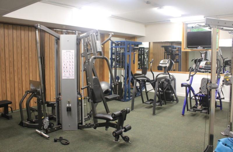 Fitness center at Attitash Mountain Village Resort.