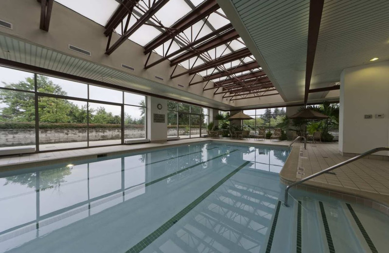 Indoor pool at Embassy Suites Detroit - Troy/Auburn Hills.