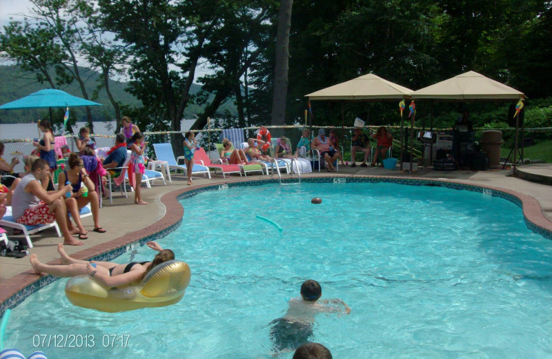 Outdoor pool at Boulders Resort.