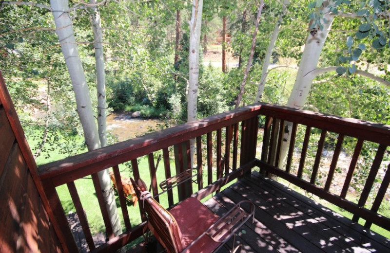 Patio View at Boulder Brook on Fall River