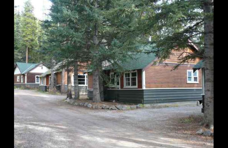 Cabins at Johnston Canyon Resort.