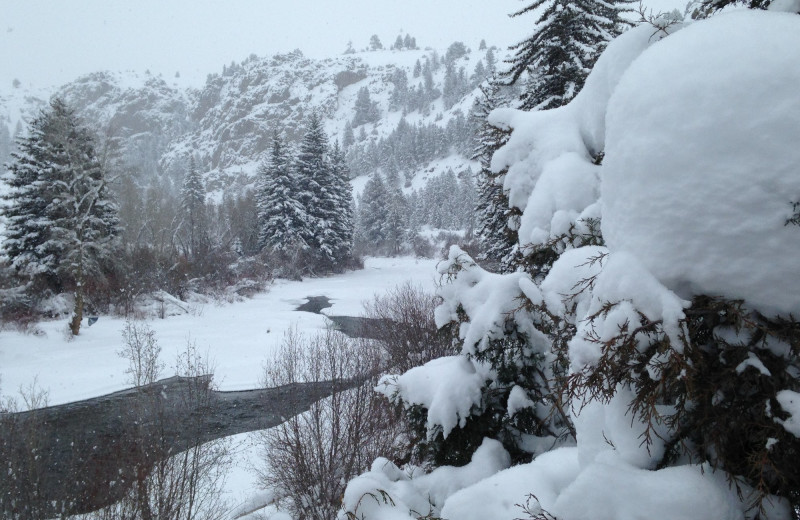 Winter at Three Rivers Resort & Outfitting.