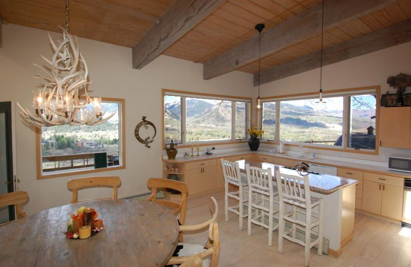 Rental kitchen at Frias Properties of Aspen - Terman House.