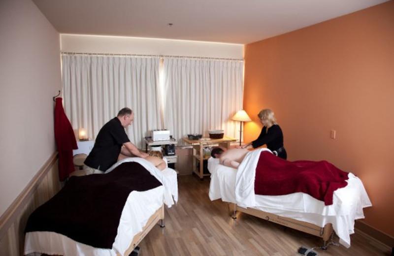 Couple's massage at Sun Mountain Lodge.