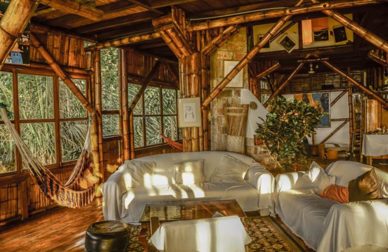 Guest room at Finca Punta Ayampe Beach Ecolodge.