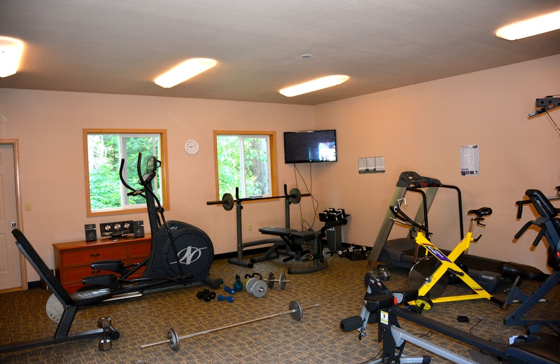 Fitness room at The Fireweed Lodge.