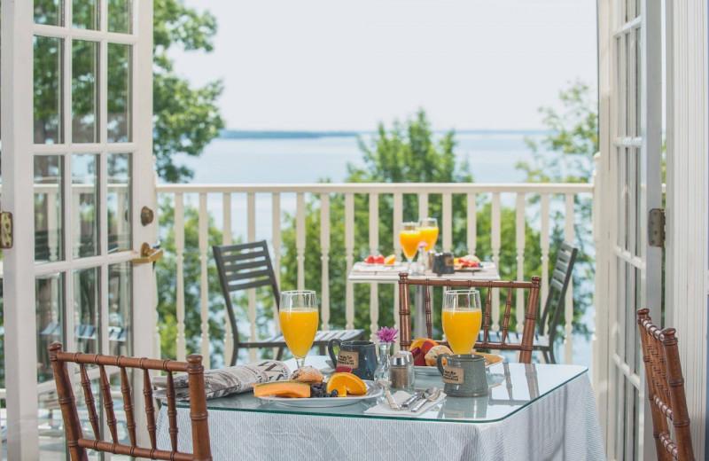 Balcony view at The Inn at Ocean's Edge.