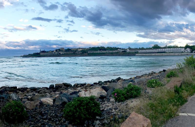Shoreline near Footbridge Beach Motel.