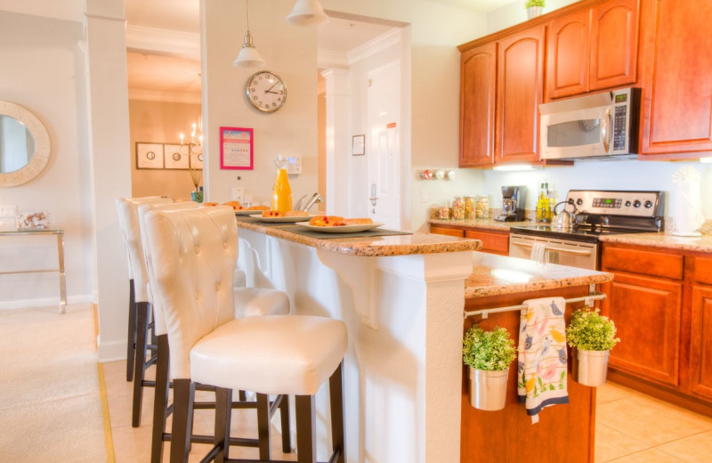Guest kitchen at Orlando Luxury Escapes Vacation Rentals.
