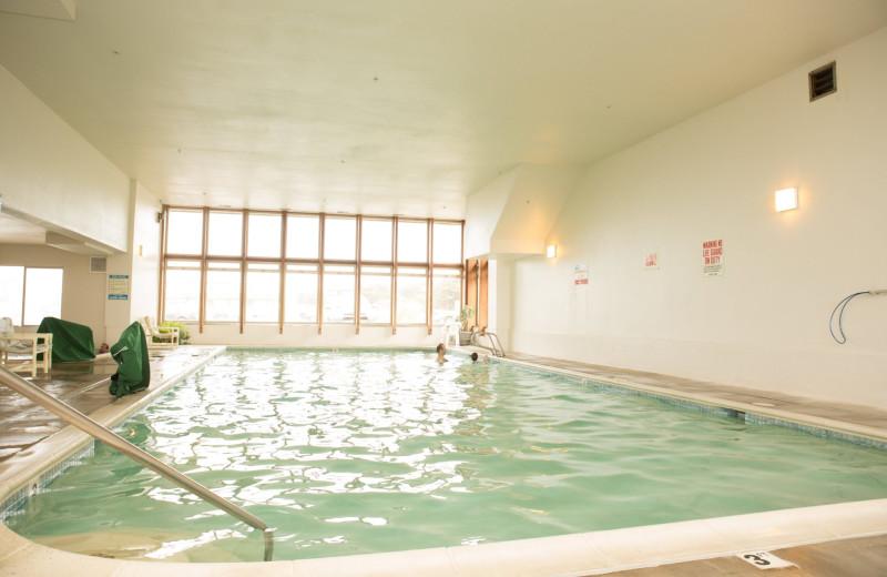 Indoor pool at Adobe Resort.