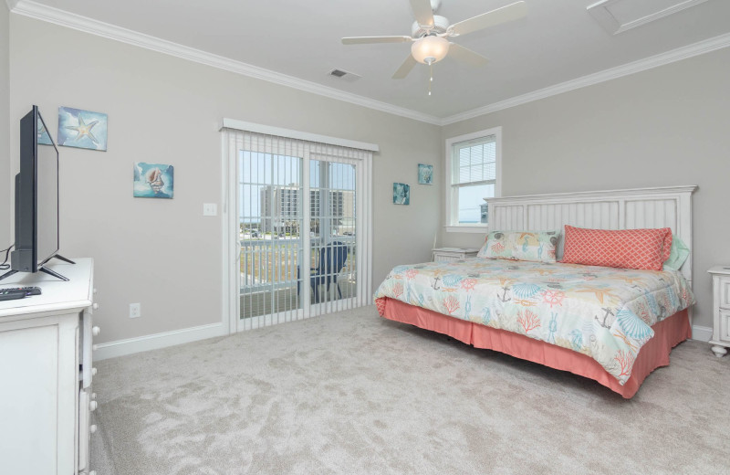 Rental bedroom at Realty World - First Coast Realty.