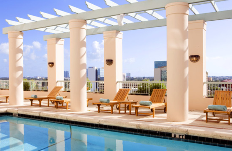 Outdoor pool at The Westin Colonnade, Coral Gables.
