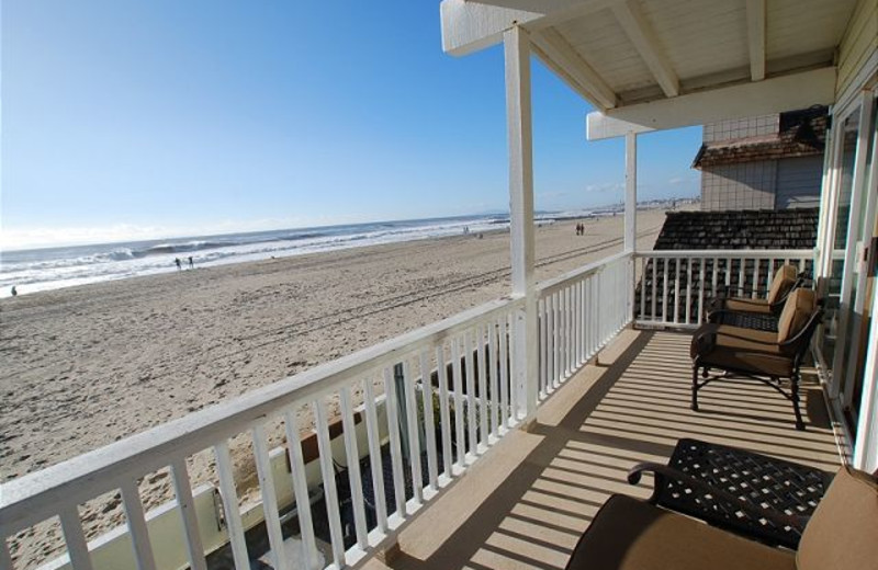Vacation rental balcony at Burr White Realty.