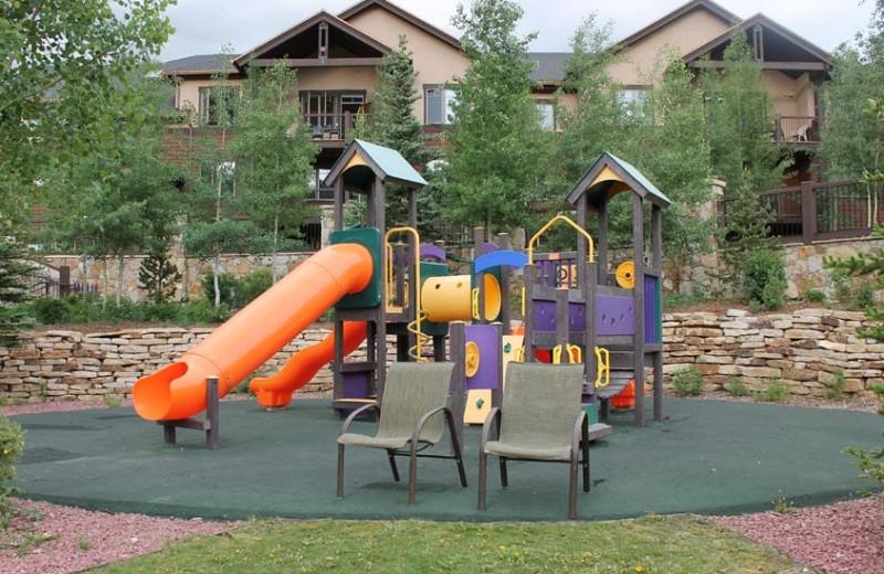 Playground at Grand Timber Lodge.