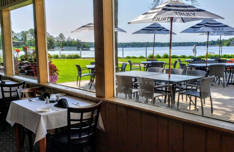 Dining at Madden's on Gull Lake.