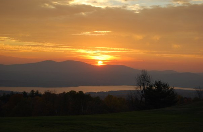 Sunset at Steele Hill Resort.