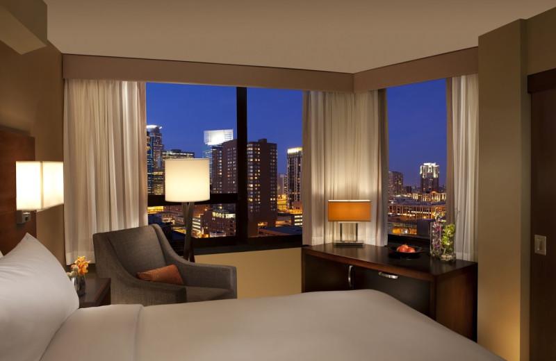 Guest room at Millennium Hotel Minneapolis.
