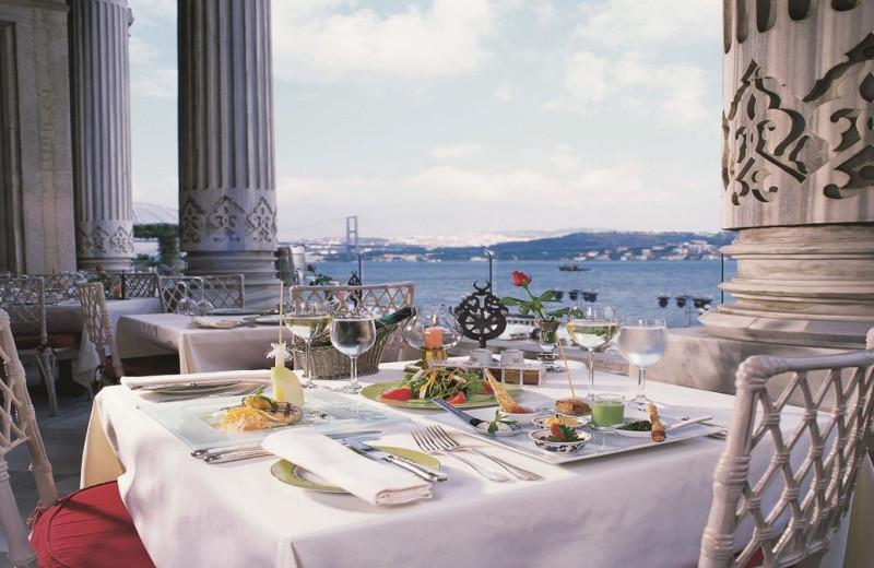 Dining at Ciragan Palace Hotel.