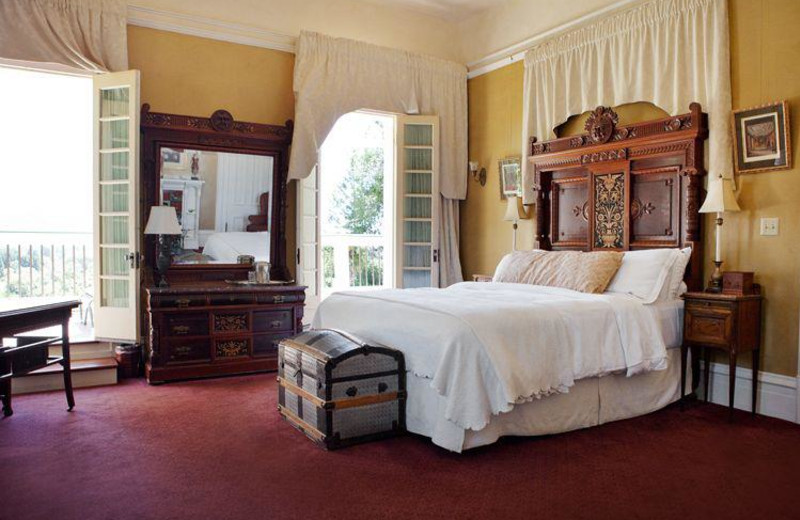 Guest room at Madrona Manor.