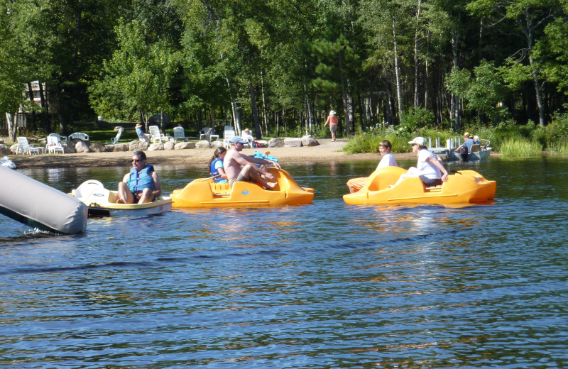 Pedal boats at River Point Resort & Outfitting Co.