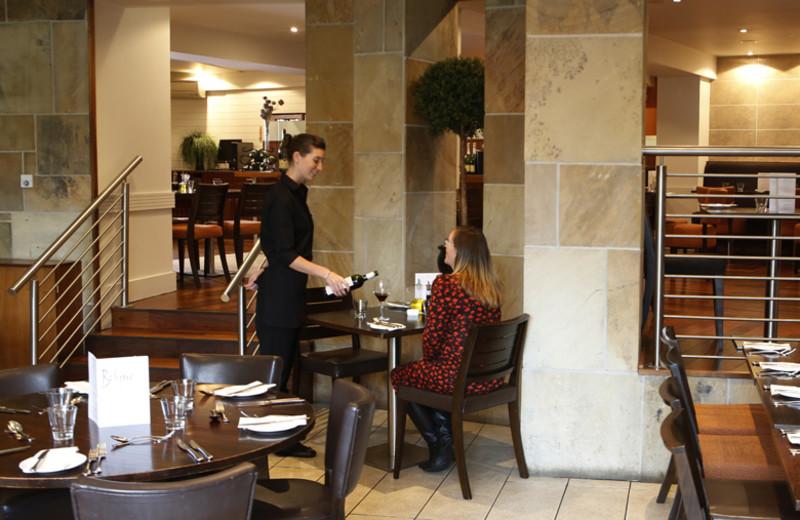 Dining at Bruntsfield Hotel.