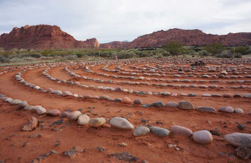 Rock maze at Red Mountain Resort & Spa.