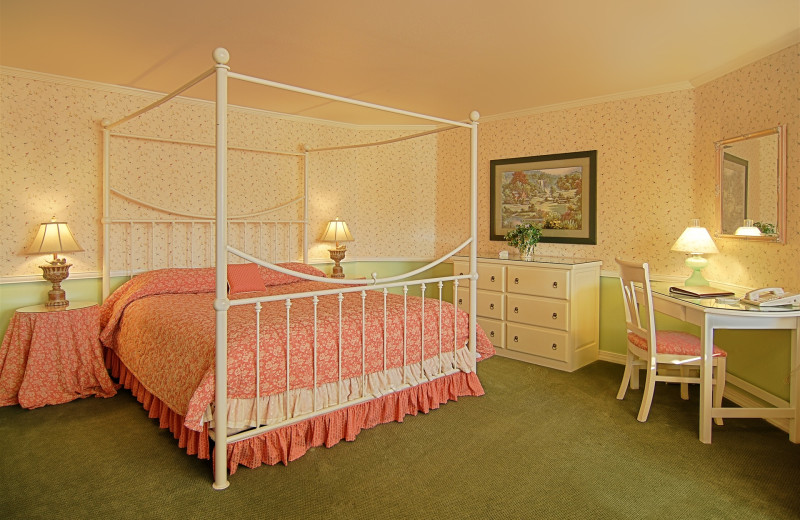 Turret Suites with King Bed, UltraBath therapy Tub for two at The Ashley Inn.