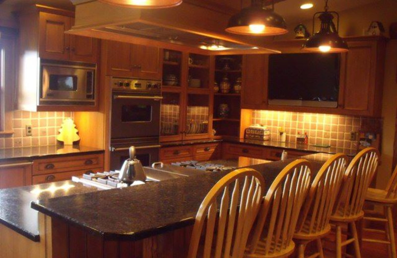 Rental kitchen at Lake Placid Accommodations.
