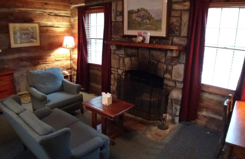 Fireplace living room at High Hampton Inn.