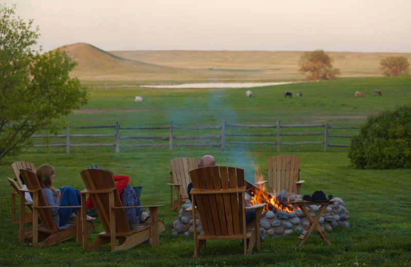 Fire pit at Colorado Cattle Company Ranch.
