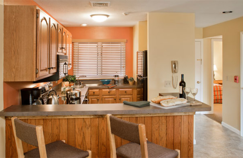 Suite kitchen at Summit Resort.