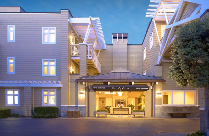 Exterior view of Beach House Hotel Hermosa Beach.