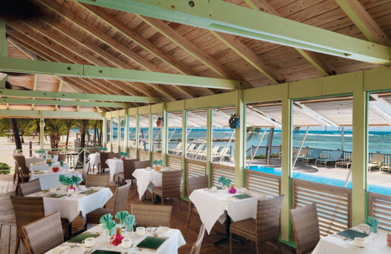 Dining at The Nisbet Plantation Beach Club.