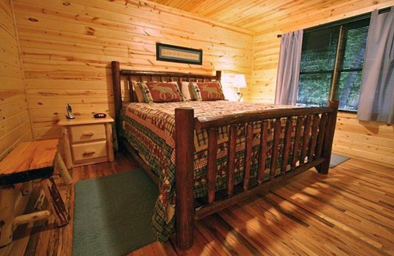 Rental bedroom at Georgia Mountain Rentals.